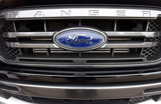 The front grill of Bruce Plumb's Ford Ranger.