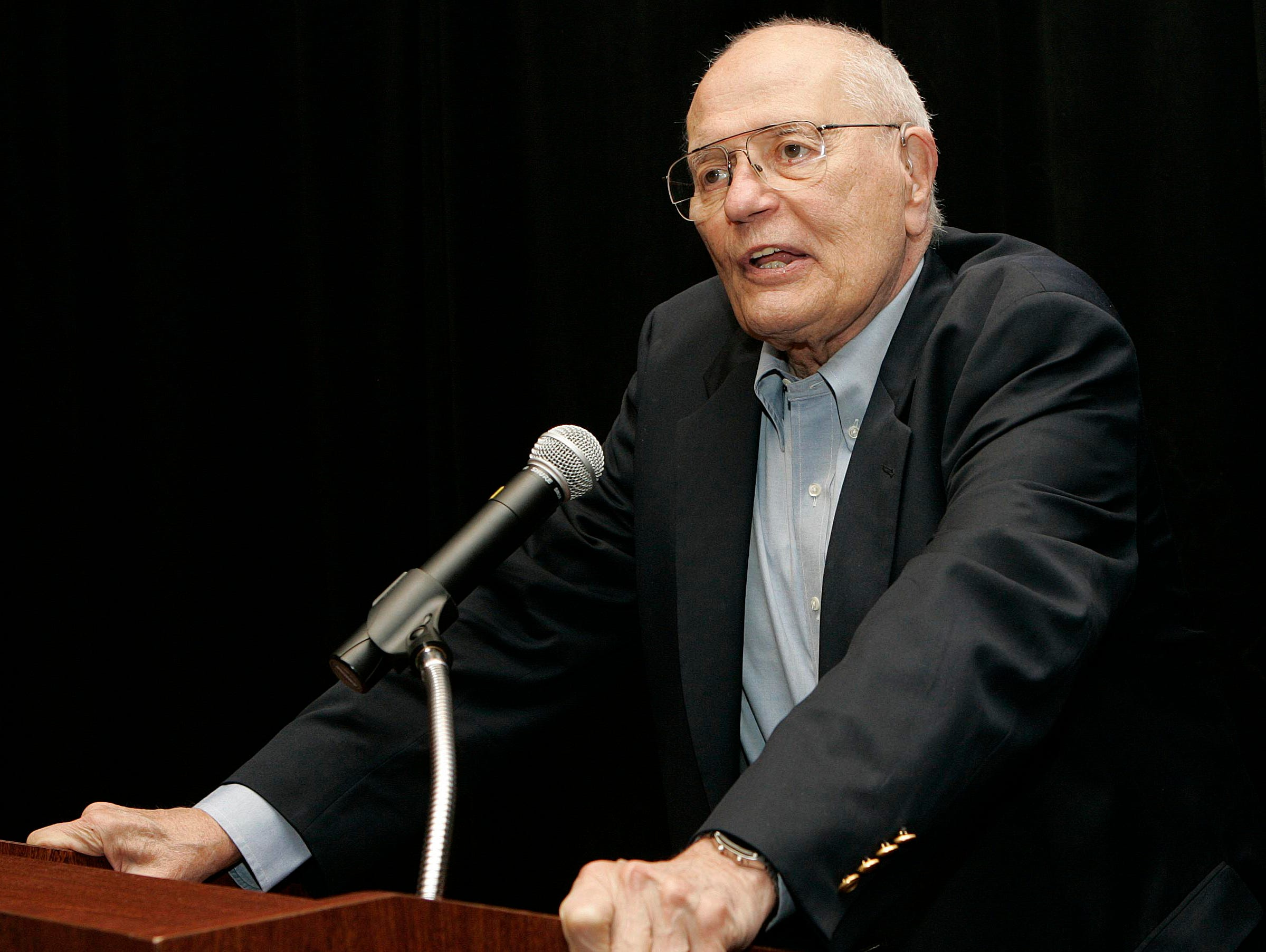 At the 2008 Democratic Convention in Denver, Dingell speaks at a breakfast meeting and rally for the Michigan delegates, before they return home to get out the vote for presidential candidate Barack Obama.