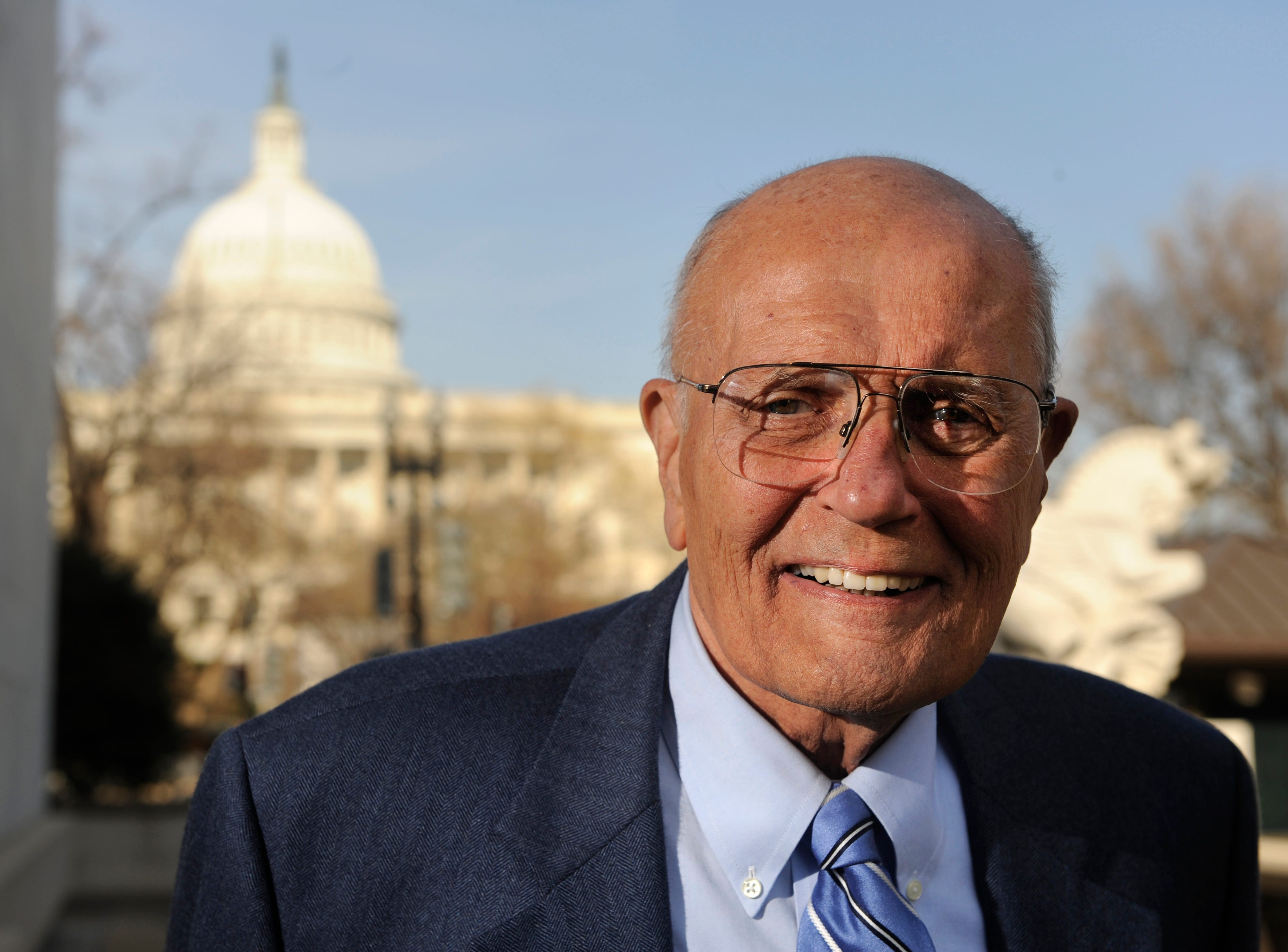 John Dingell Jr., the statesman from Dearborn who served longer in Congress than anyone,  died Thursday, February 7, 2019.  He's seen here working at his Washington D.C. office in the Rayburn House Building  in 2009.