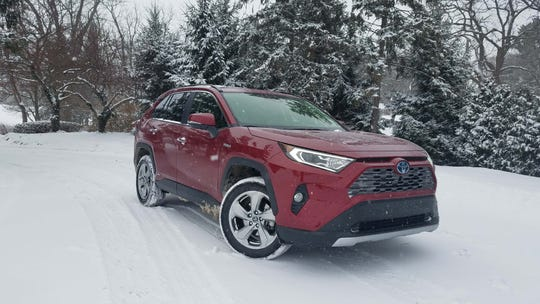 The 2019 Toyota RAV4 Hybrid is solid in the snow with AWD, and a chassis and independent suspension more refined from the previous gen.