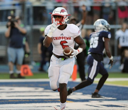 Clinton Township Chippewa Valley's Marcel Lewis figures to play linebacker at Michigan State, though he excelled on offense as well for the Big Reds.