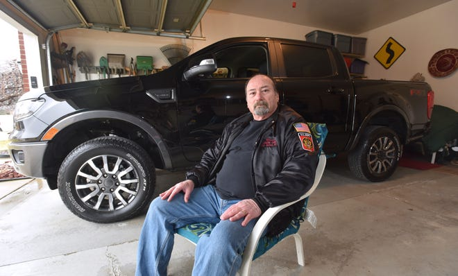 Bruce Plumb of Brownstown Township is the first person in the nation to own the new-model Ranger. Ford has brought it back after an eight-year hiatus.