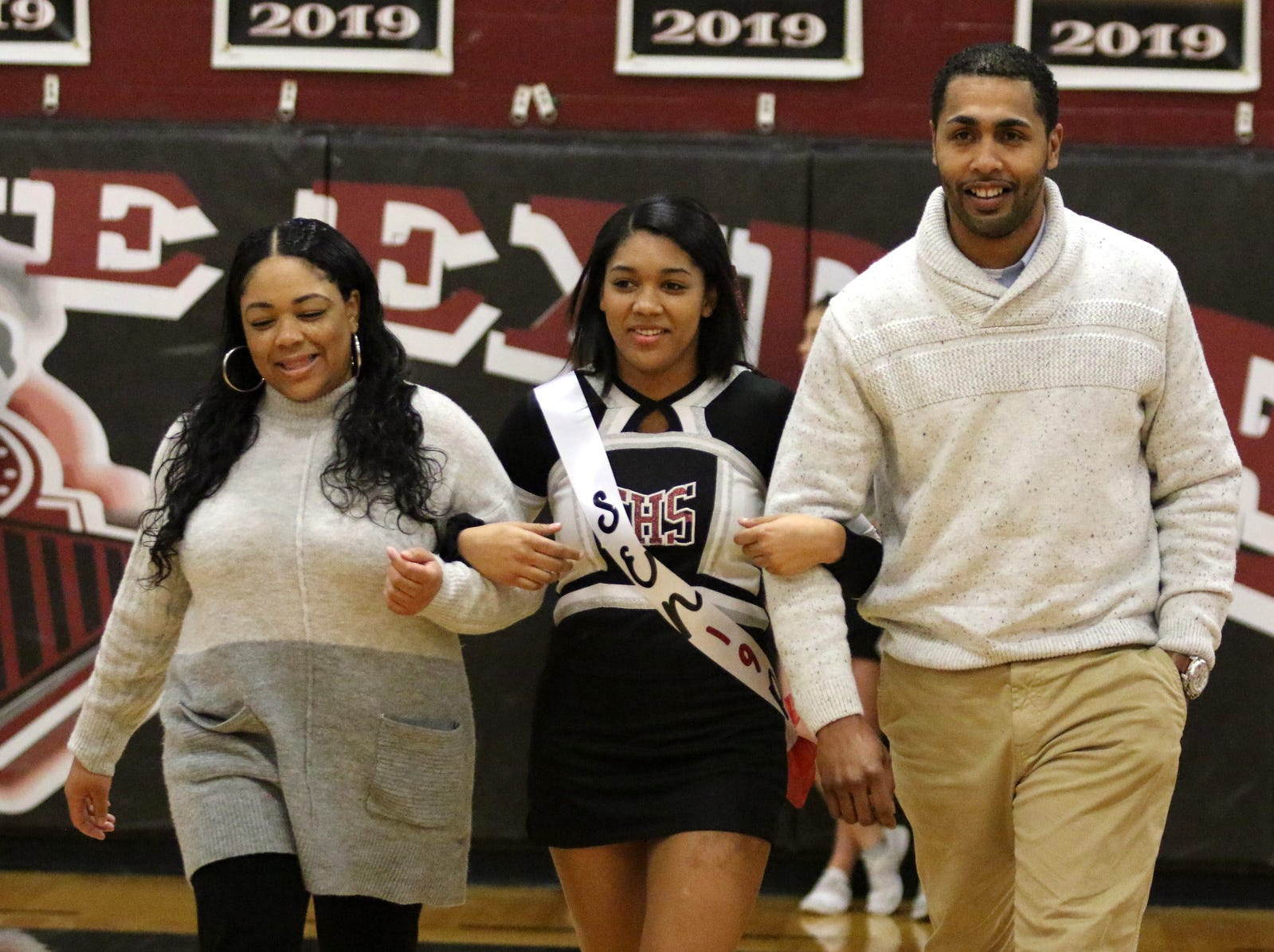 Senior Night festivities were held before the Binghamton at Elmira boys basketball varsity game Feb. 5, 2019 at Elmira High School.