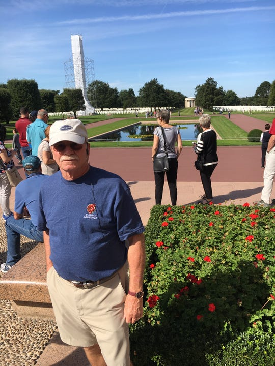 Jim Gilmore, at the American Cemetery monument in Normandy, France.