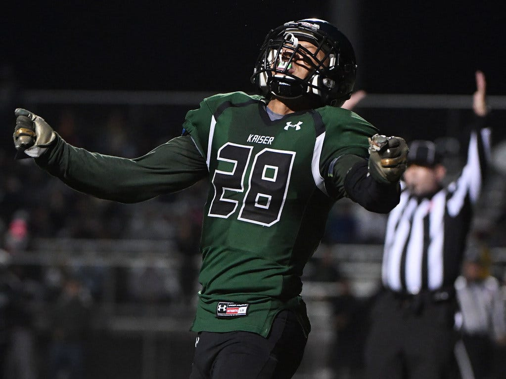 Kaiser High School (California) Christian Hunter led all high school runners with 3,839 yards rushing as a senior. He verbally committed to CSU on Tuesday.
