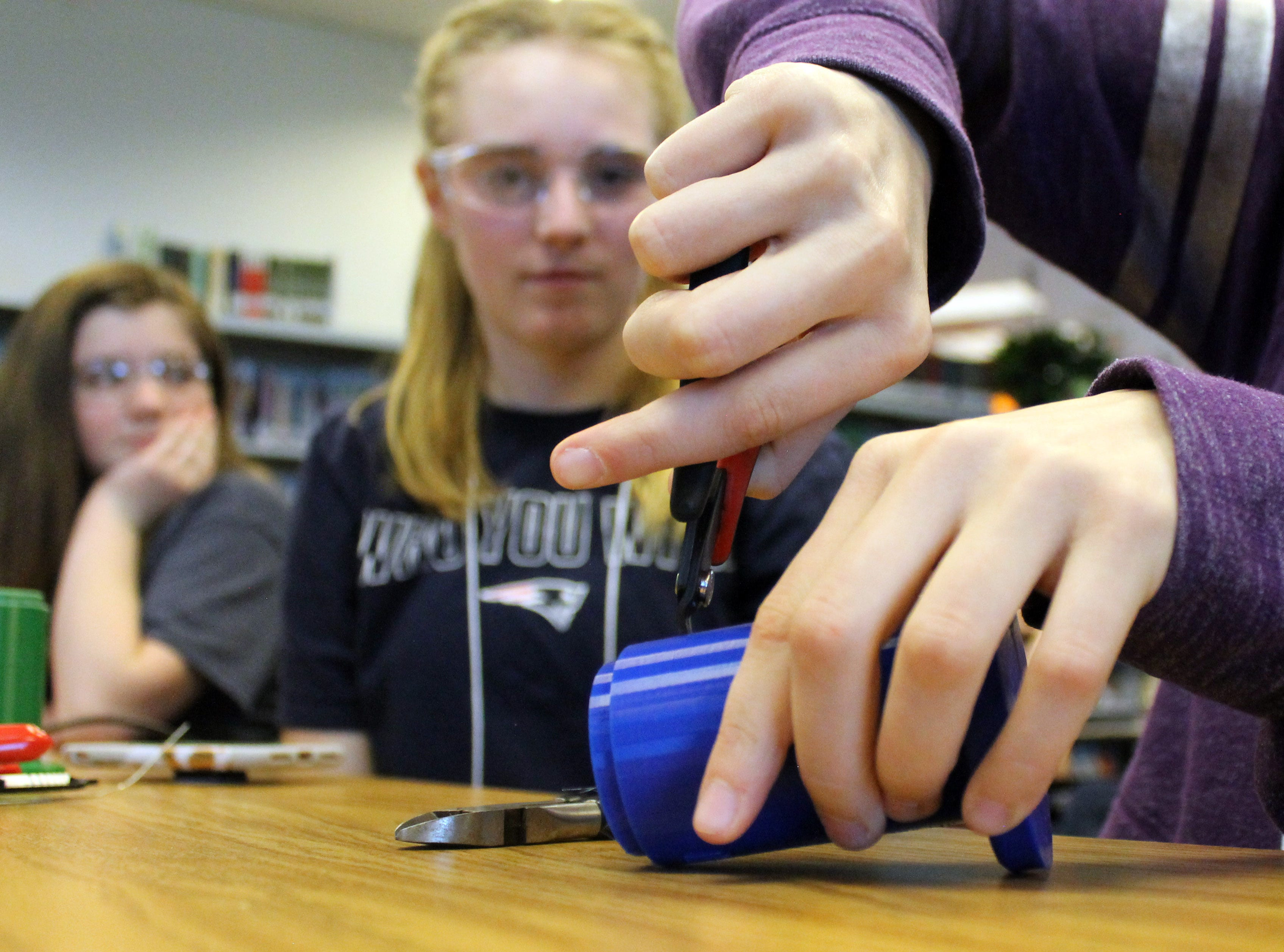 Engineering Brightness, a club at Preston Middle School, focuses on helping kids to develop engineering skills while making a global impact. The group works to engineer 3D printed, sustainable lanterns and distributes  them to people without reliable electricity worldwide.