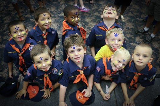 Julian Jr. with his Tiger Scout den.