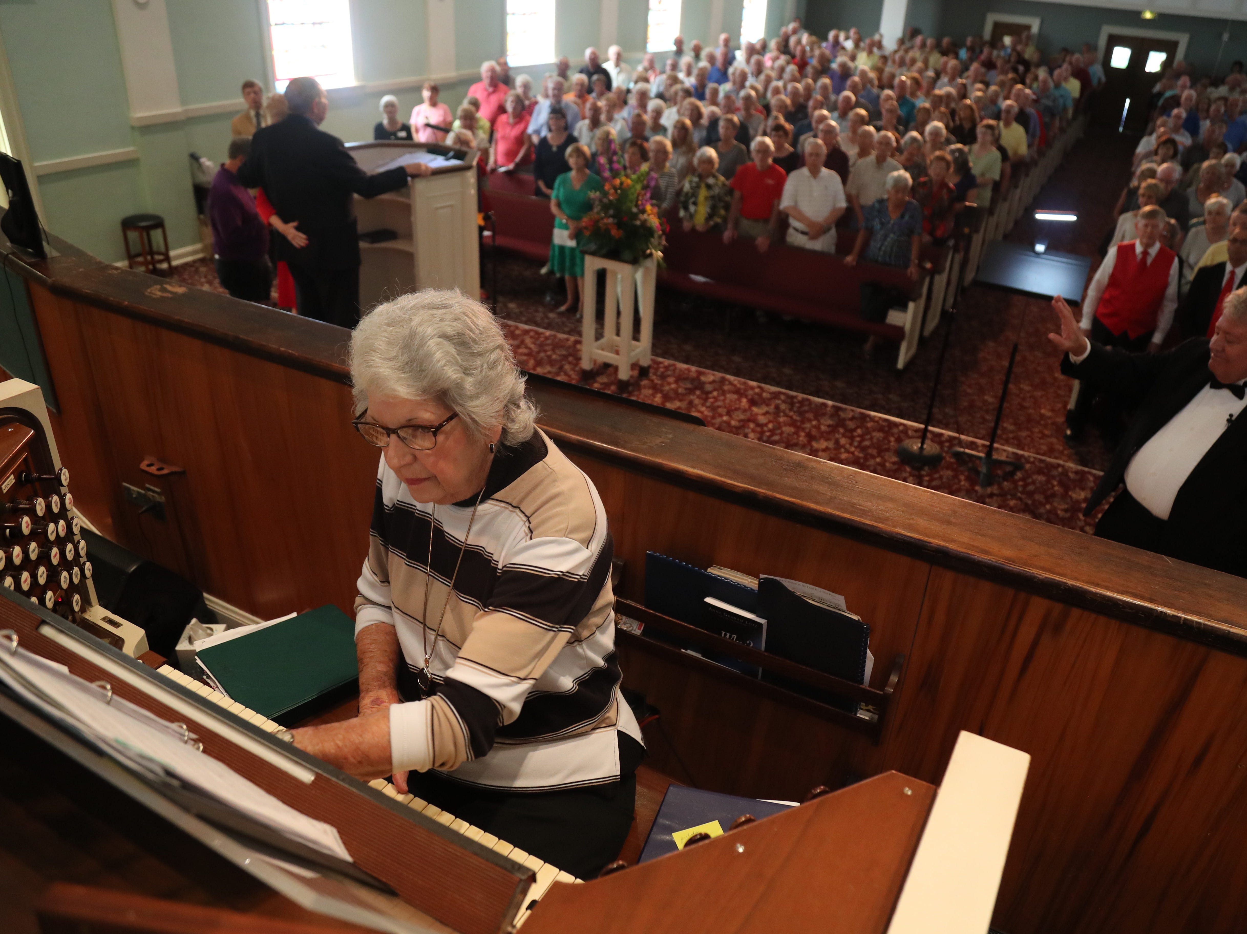 A large crowd gathered Tuesday, Feb. 5, 2019 for the 30th Annual Mrs. Edison's Hymn Sing at First Presbyterian Church in Fort Myers. There were so many in attendance that an overflow room was set up to stream the event.