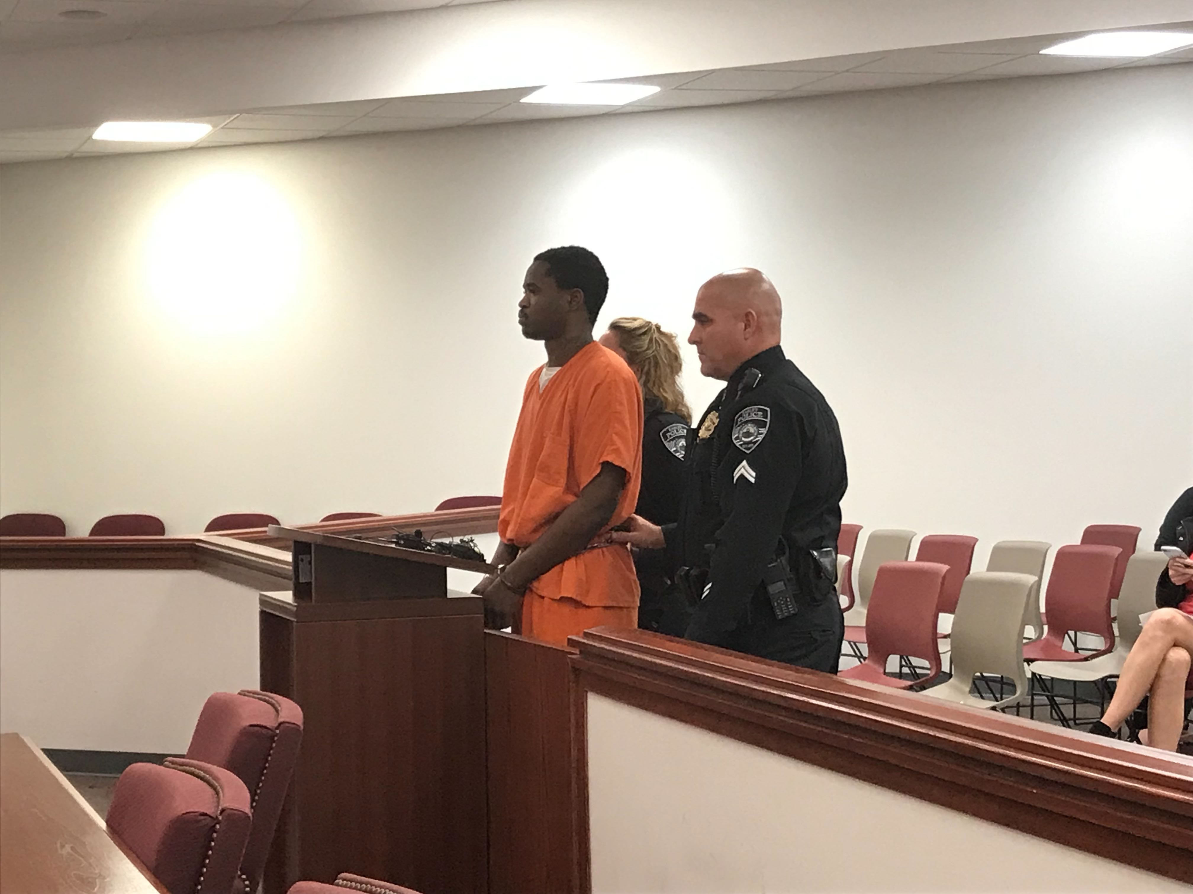Tychristian Ladson was arrested Tuesday in connection to the shooting death of Stacey Regina Branham. He appeared in court Wednesday, Feb. 6, 2019. He was denied bond.