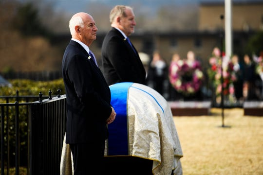 Hundreds attend the funeral service of Beneth Peters Jones at Bob Jones University on Wednesday, Feb. 6, 2019.