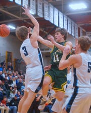 Great Falls High hosts CMR in the boys crosstown basketball game in the Swarthout Fieldhouse, Tuesday.