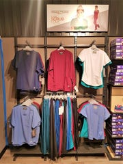 A new line of medical scrubs by Skechers is seen on display at their second storefront in Tamuning.