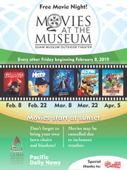 Enjoy a free movie night at Movies at the Museum. Movies may be canceled due to bad weather.