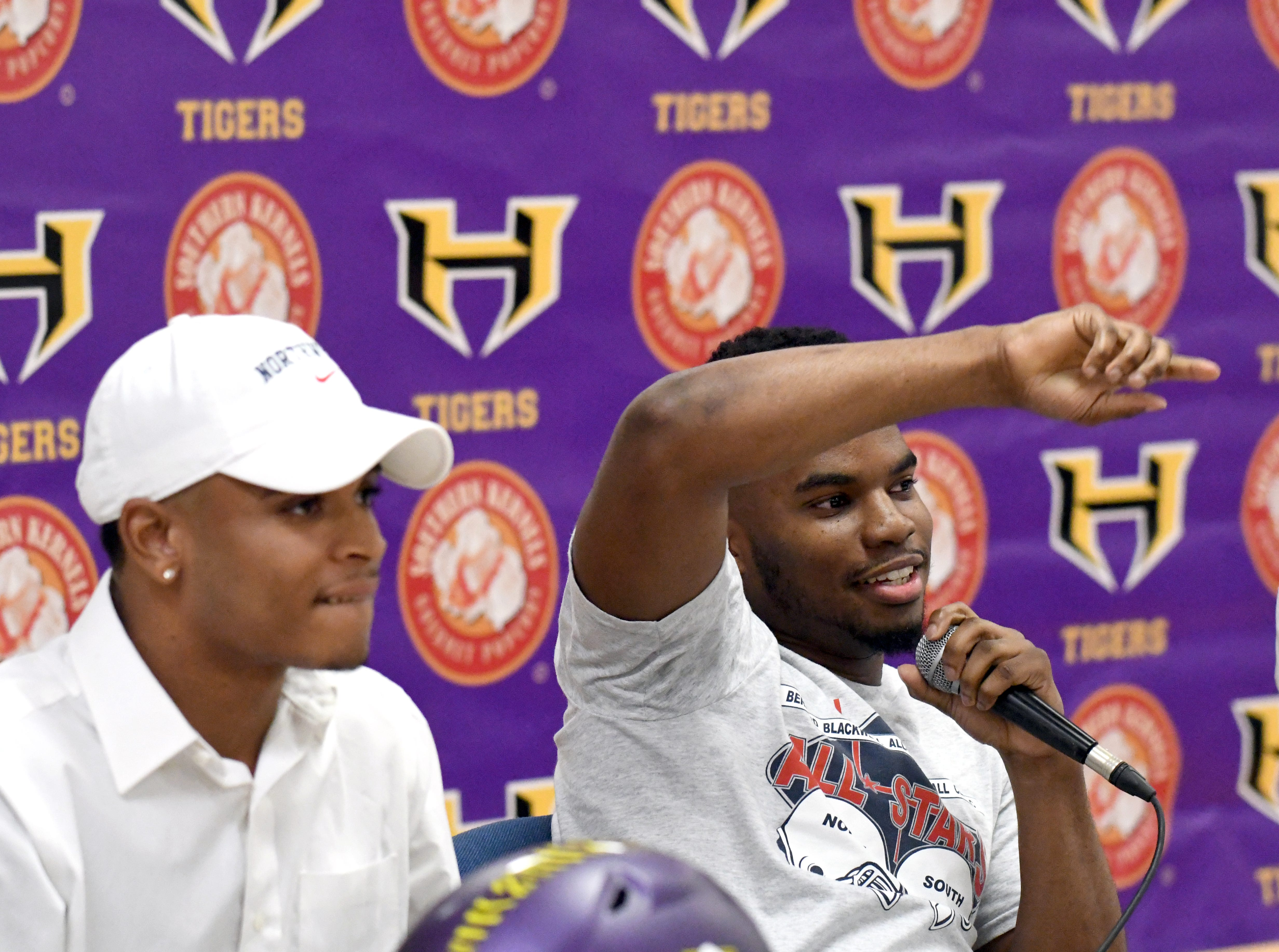 Hattiesburg High senior Drexlan Allen signed with Jackson State University during National Signing Day in Hattiesburg on Wednesday, February 6, 2019.