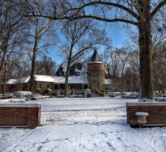 A new round of state park funding will include improvements at The Audubon Museum in Audubon State Park. The museum is seen here on a recent snowy day.