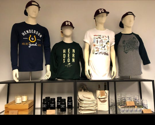 From custom-made Henderson-themed T-shirts and ball caps to glassware and water bottles, the gift shop at the Henderson Tourist Commission in the Depot stocks a peerless range of Hendo Proud products.