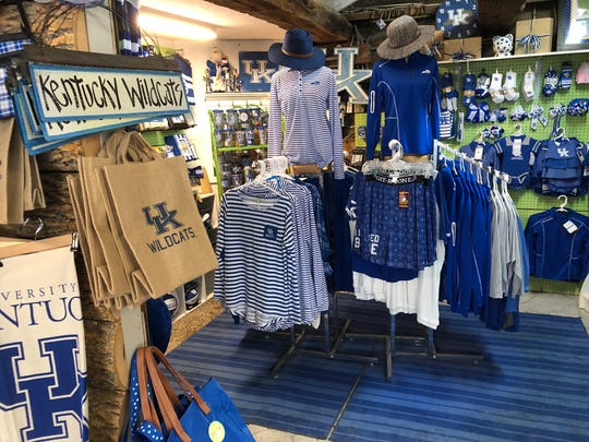 Not even the UK room at Sweet Pea's Gift Shop on U.S. 60-East is big enough to display all of the Big Blue merchandise it stocks.