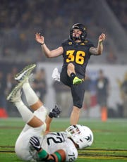 Michael Sleep-Dalton (36) averaged 43.8 yards per punt in the 2018 season for Arizona State.