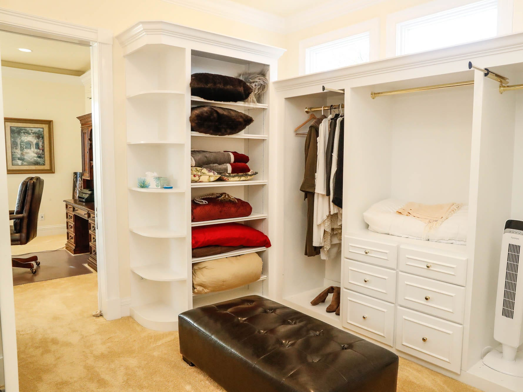A large walk-in closet offers copious storage at a Greenwood home up for sale at 1216 Stone Ridge Court, Greenwood, Ind. on Wednesday, Jan. 30, 2019. The home features 8,234 square feet, four bedrooms, two master suites, a 10 car garage, and an exercise room.
