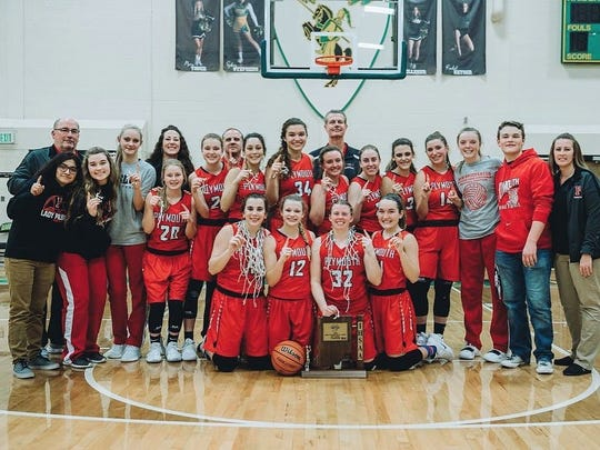 The Plymouth girls basketball team won its first sectional title since 2013.