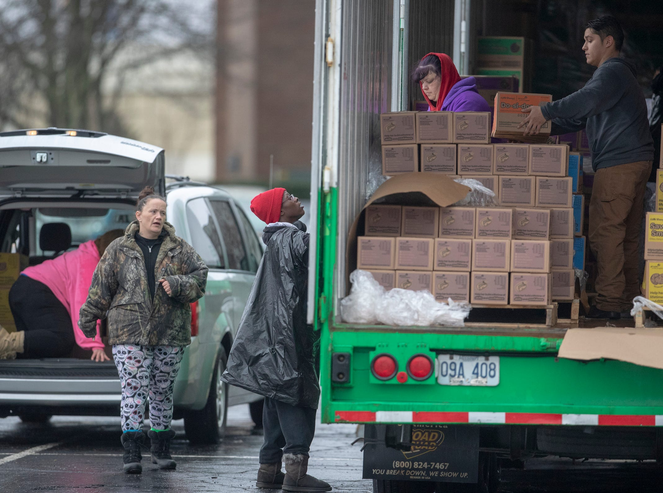Distribution for Girl Scout Cookies in Indianapolis, Wednesday, Feb. 6, 2019. The cookies will start to appear locally on the weekend, and should last into mid-March.