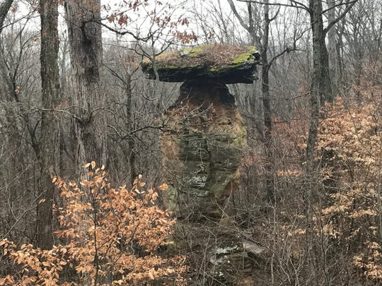 The Jug Rock outside of town in Shoals.