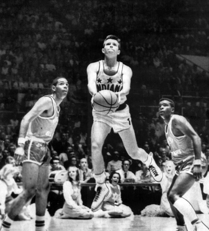 Billy Shepherd of Carmel scored 2,465 points in four years and was selected as Indiana's Mr. Basketball in 1968.