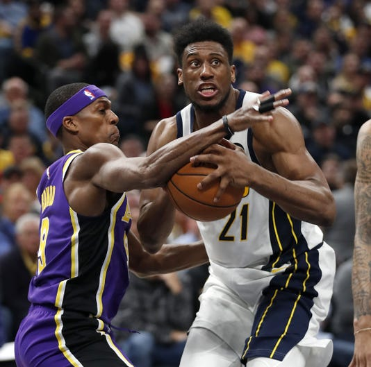 The Indiana Pacers Host The Los Angeles Lakers