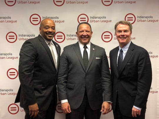 Indianapolis Urban League President and CEO Anthony Mason, National Urban League President and CEO Marc MoriaI and Mayor Joe Hogsett  announced Tuesday, Feb. 5, 2019, that Indianapolis will host the 2019 National Urban League conference in July.