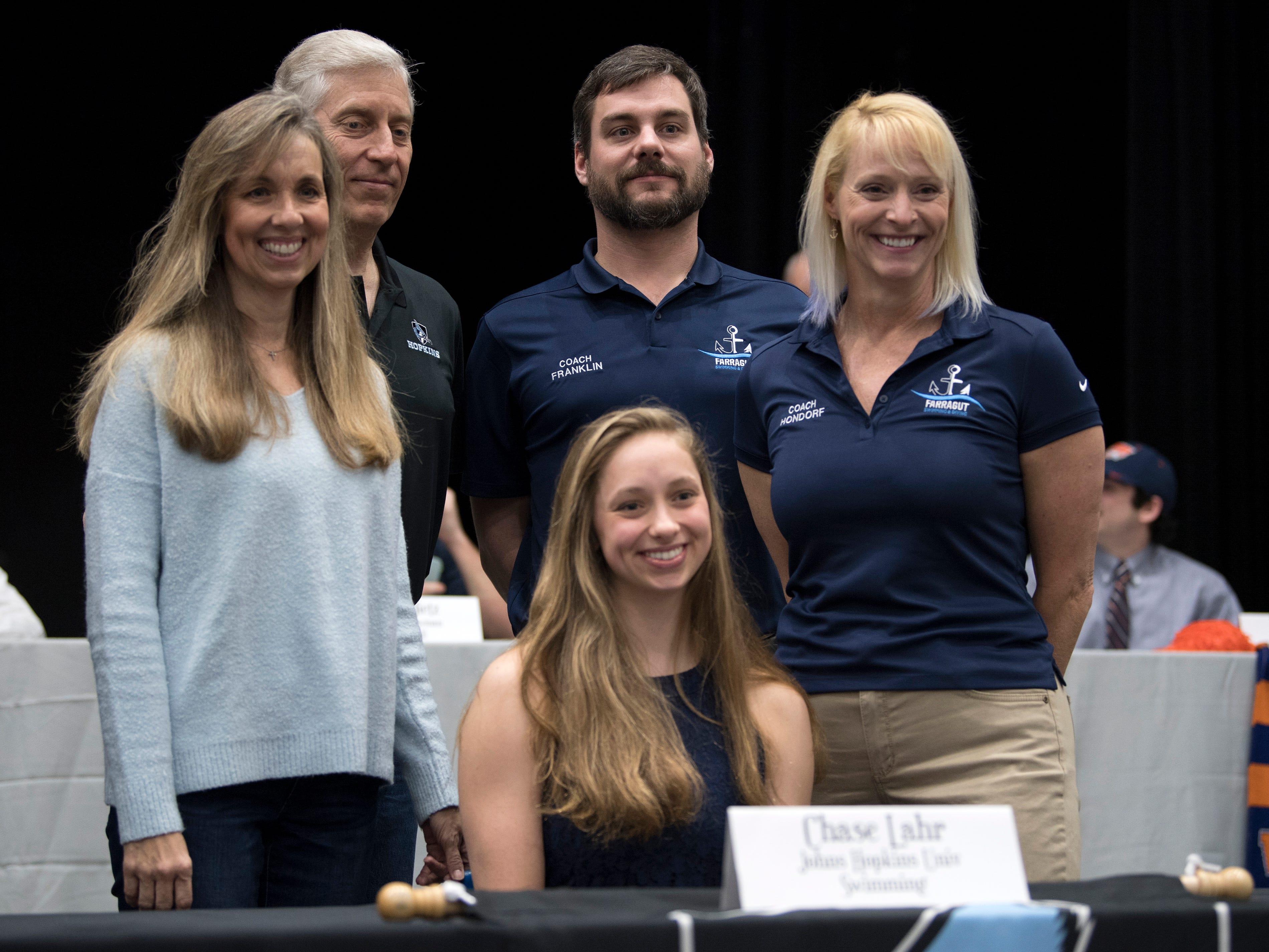 Farragut swimmer Chase Lahr signed with Johns Hopkins University.