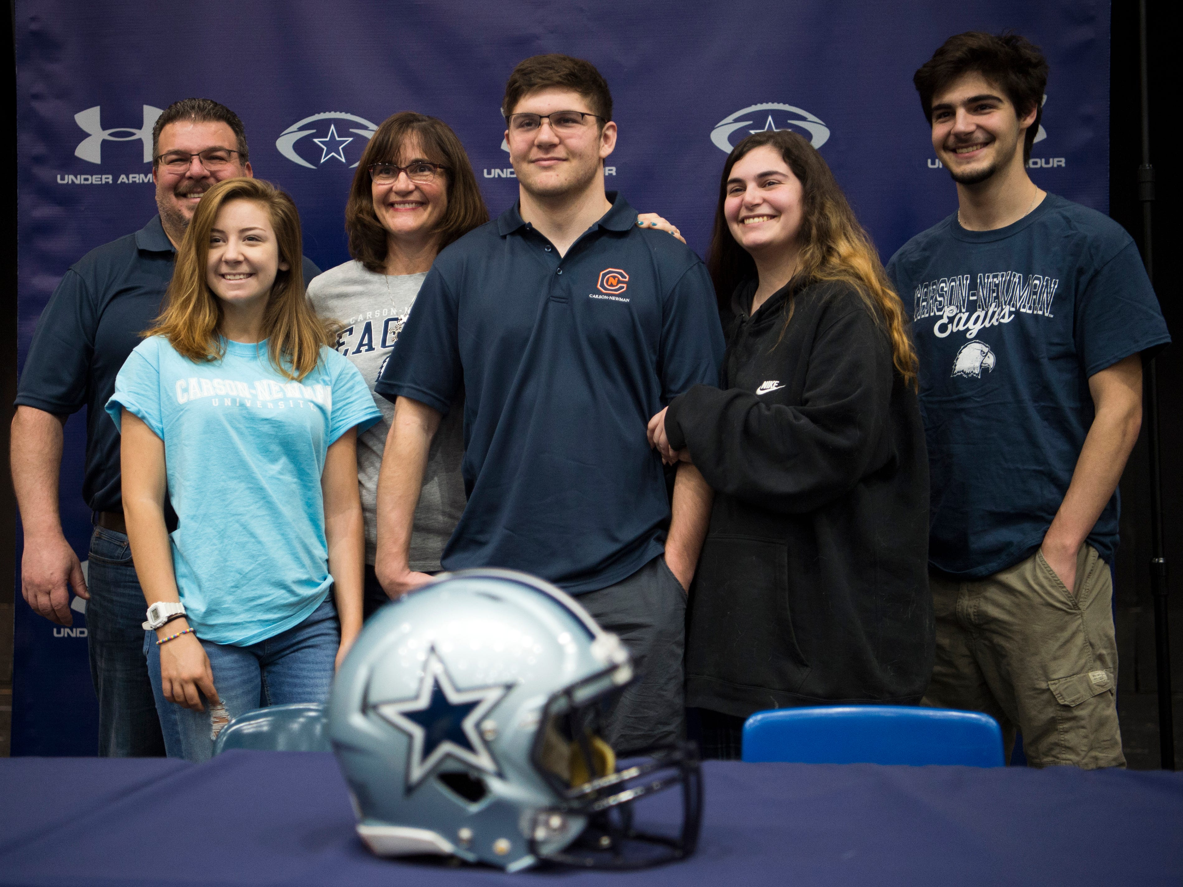 Farragut football player Joey Dietz during a National Signing Day event at Farragut High's auditorium on Wednesday, February 6, 2019.