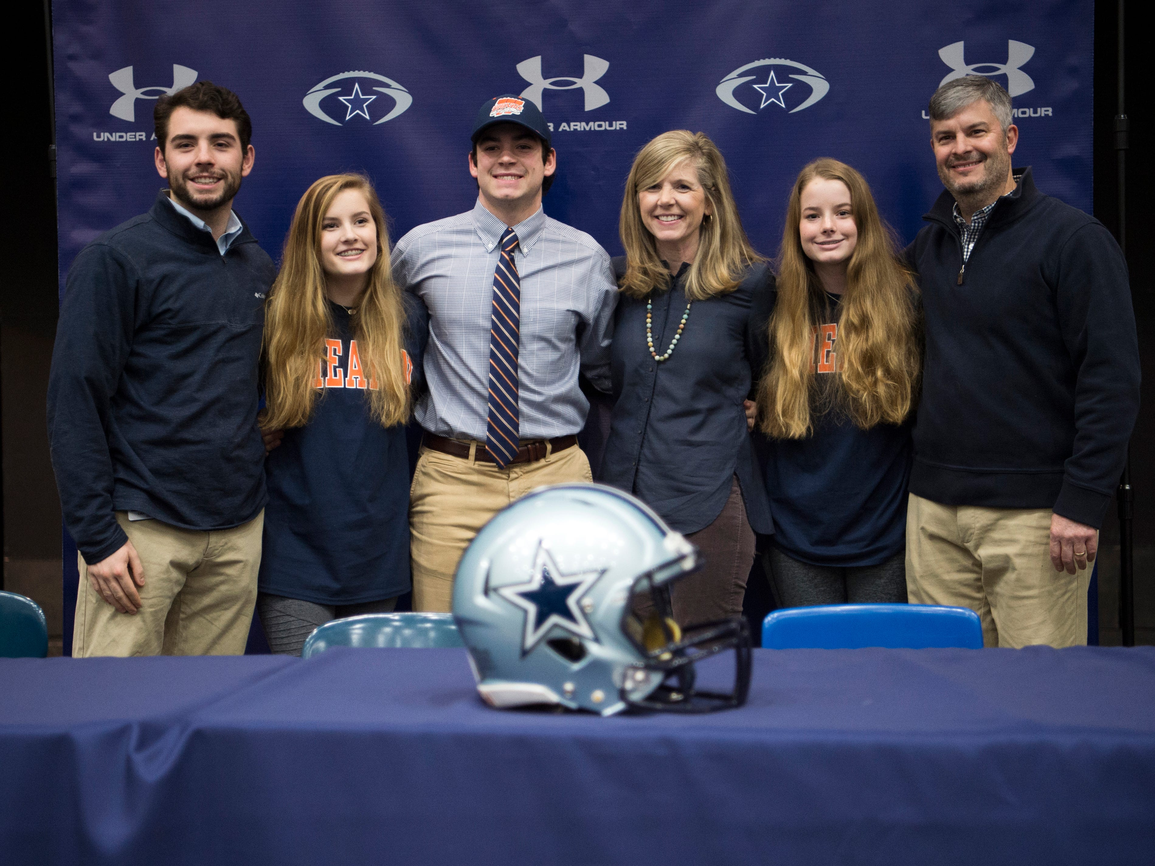 Farragut football player Kyle Carter during a National Signing Day event at Farragut High's auditorium on Wednesday, February 6, 2019.