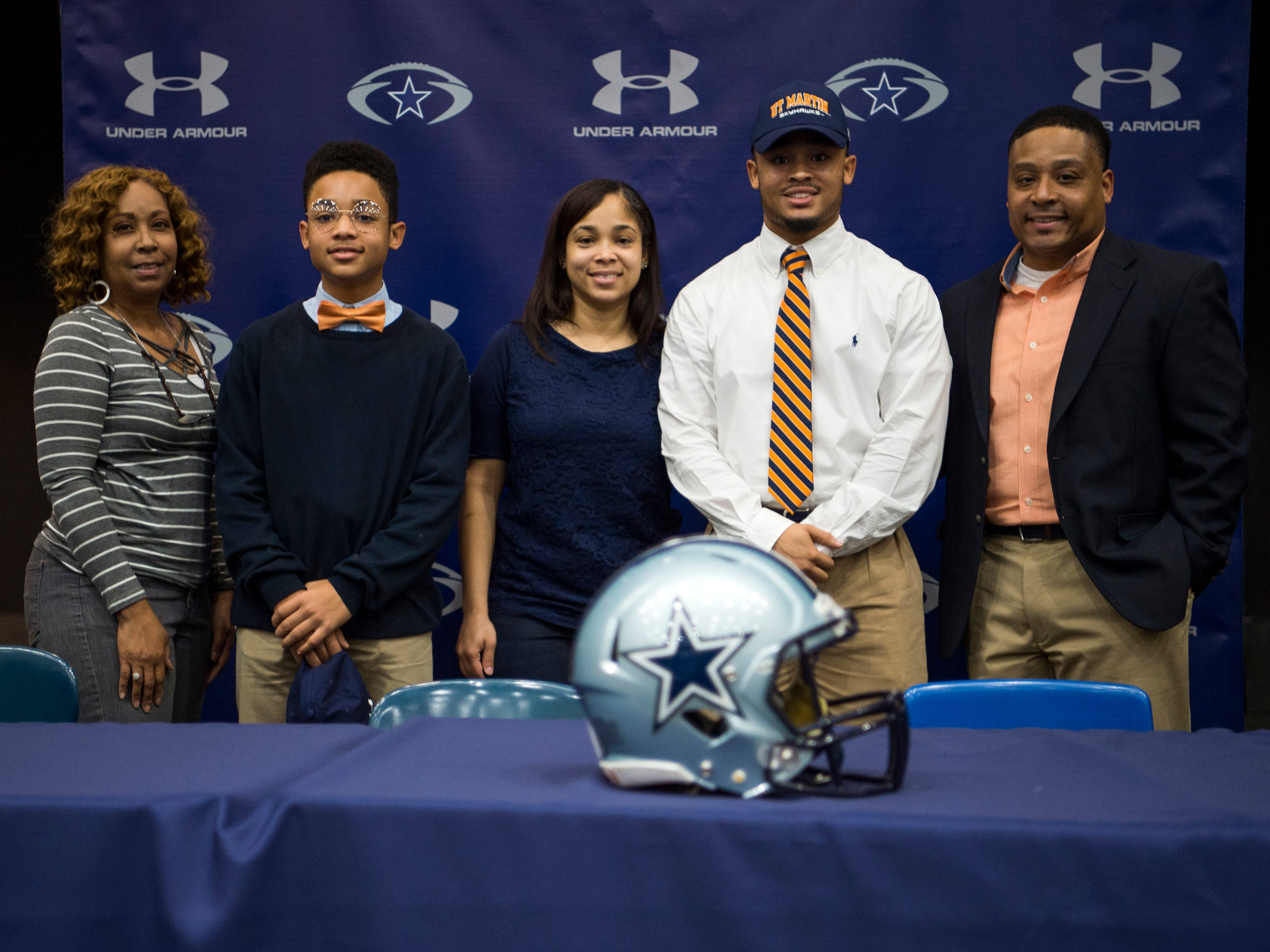 Farragut football player Isiah Gibbs during a National Signing Day event at Farragut High's auditorium on Wednesday, February 6, 2019.