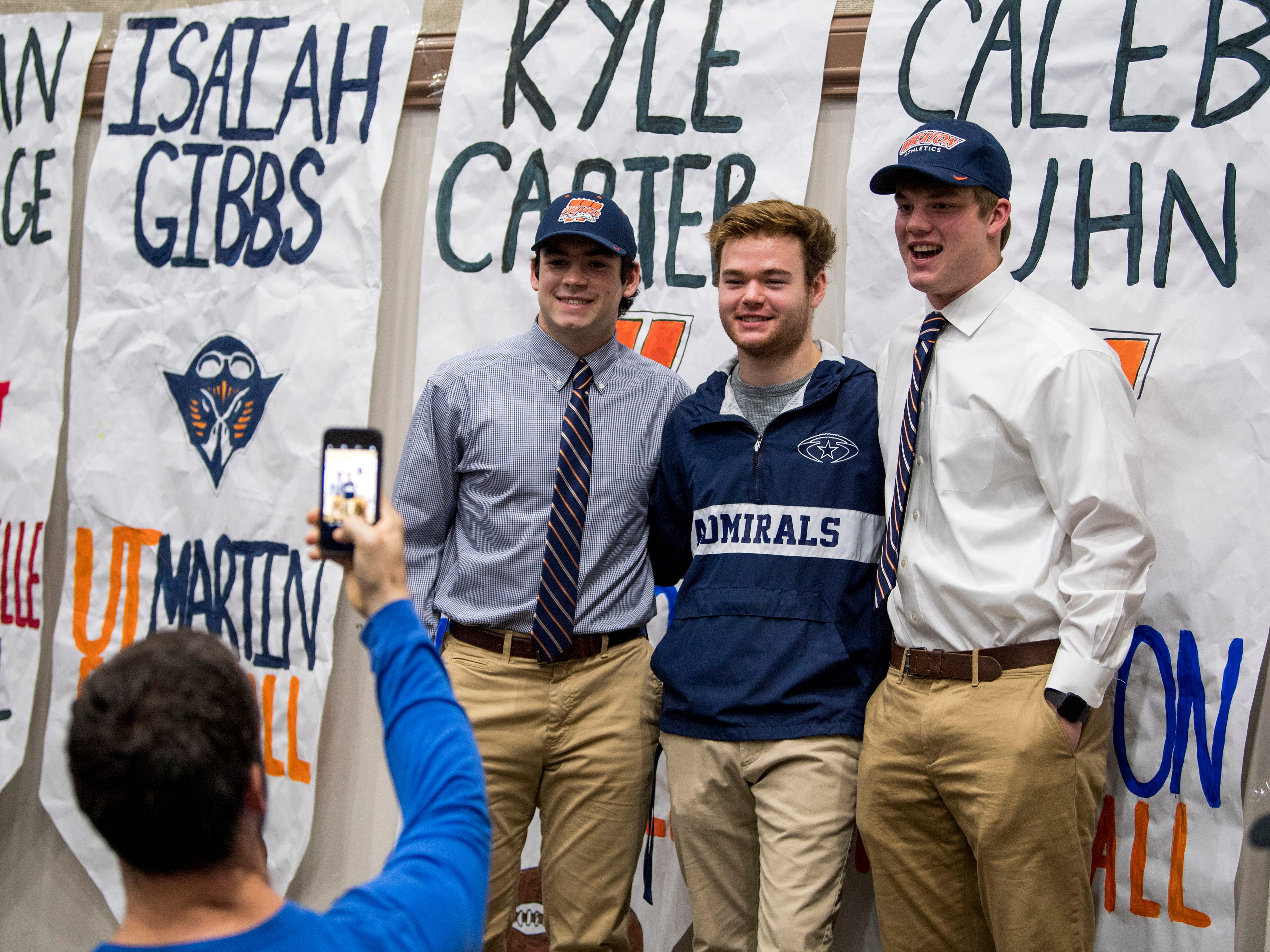 National Signing Day at Farragut High's auditorium on Wednesday, February 6, 2019.