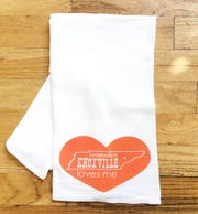 "This ""Somebody in Knoxville Loves Me"" tea towel by Meghan McCrary is available at Rala."