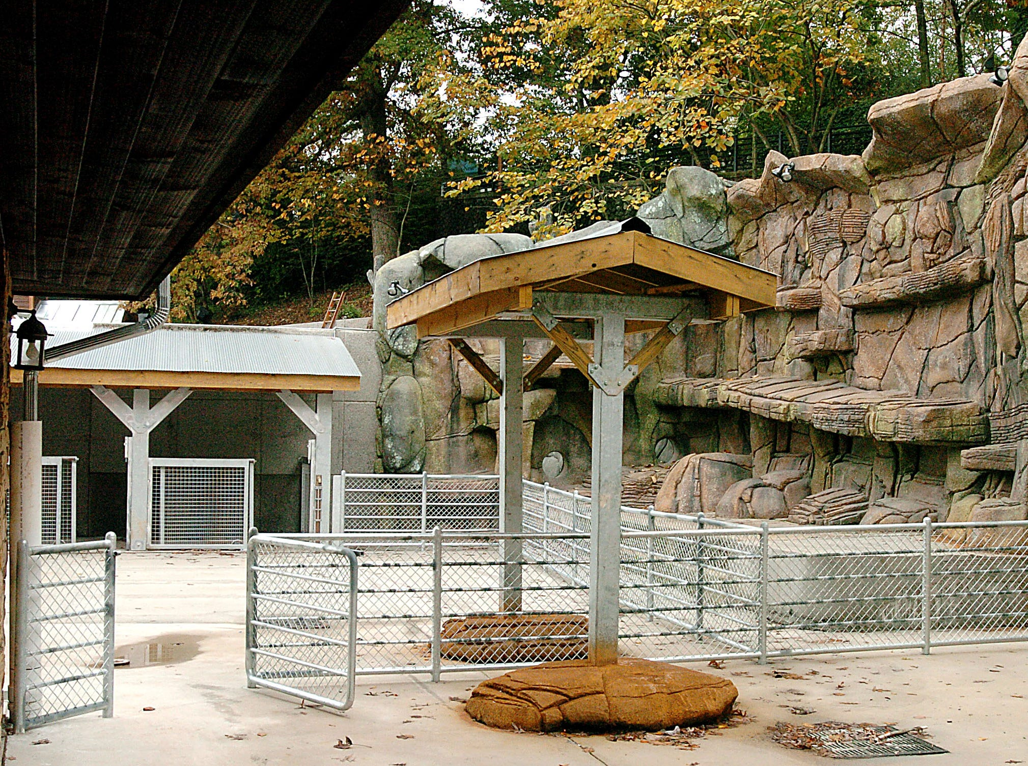 The goat climbing wall area of Kids Cove at the Knoxville Zoo which has an opening date of April 2.  Kids Cove Curator Evan James is working with Merit Construction Company on the project which will include play areas for children and animals.