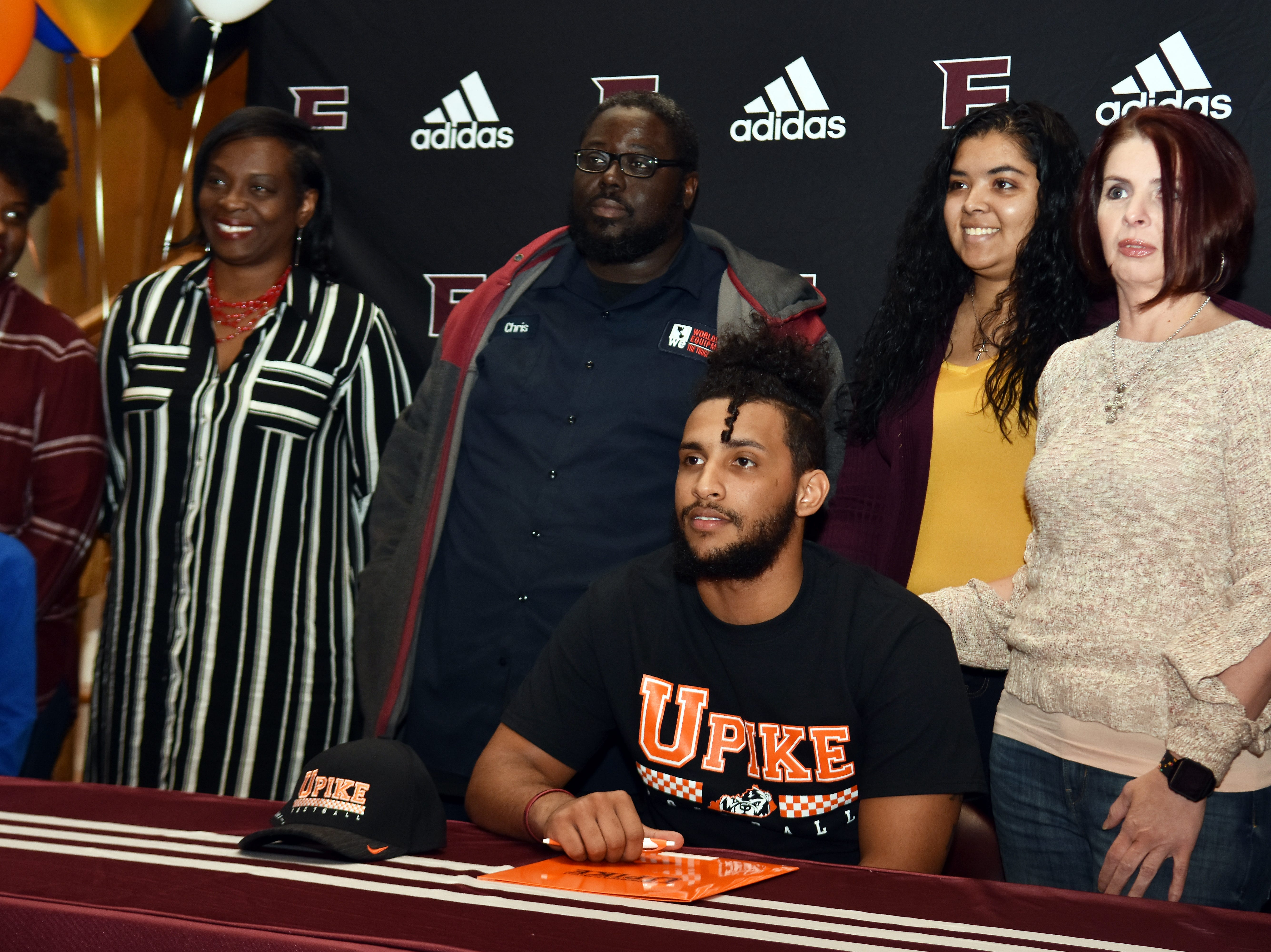 Fulton's Xavier Malone signed to play football at University of Pikeville on National Signing Day, Wednesday, February 6, 2019.