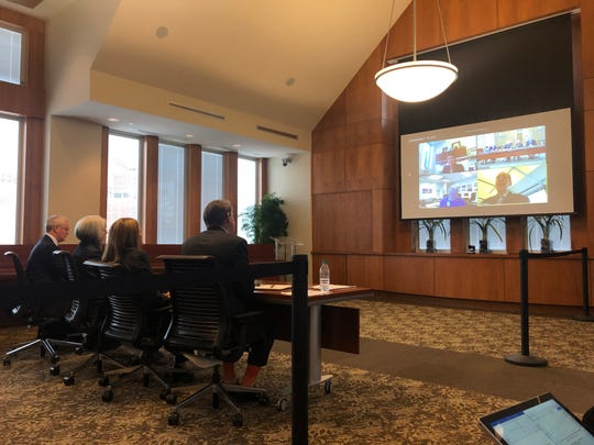 Members of the executive committee of the University of Tennessee Board of Trustees met on Wednesday, Feb. 6, 2019.