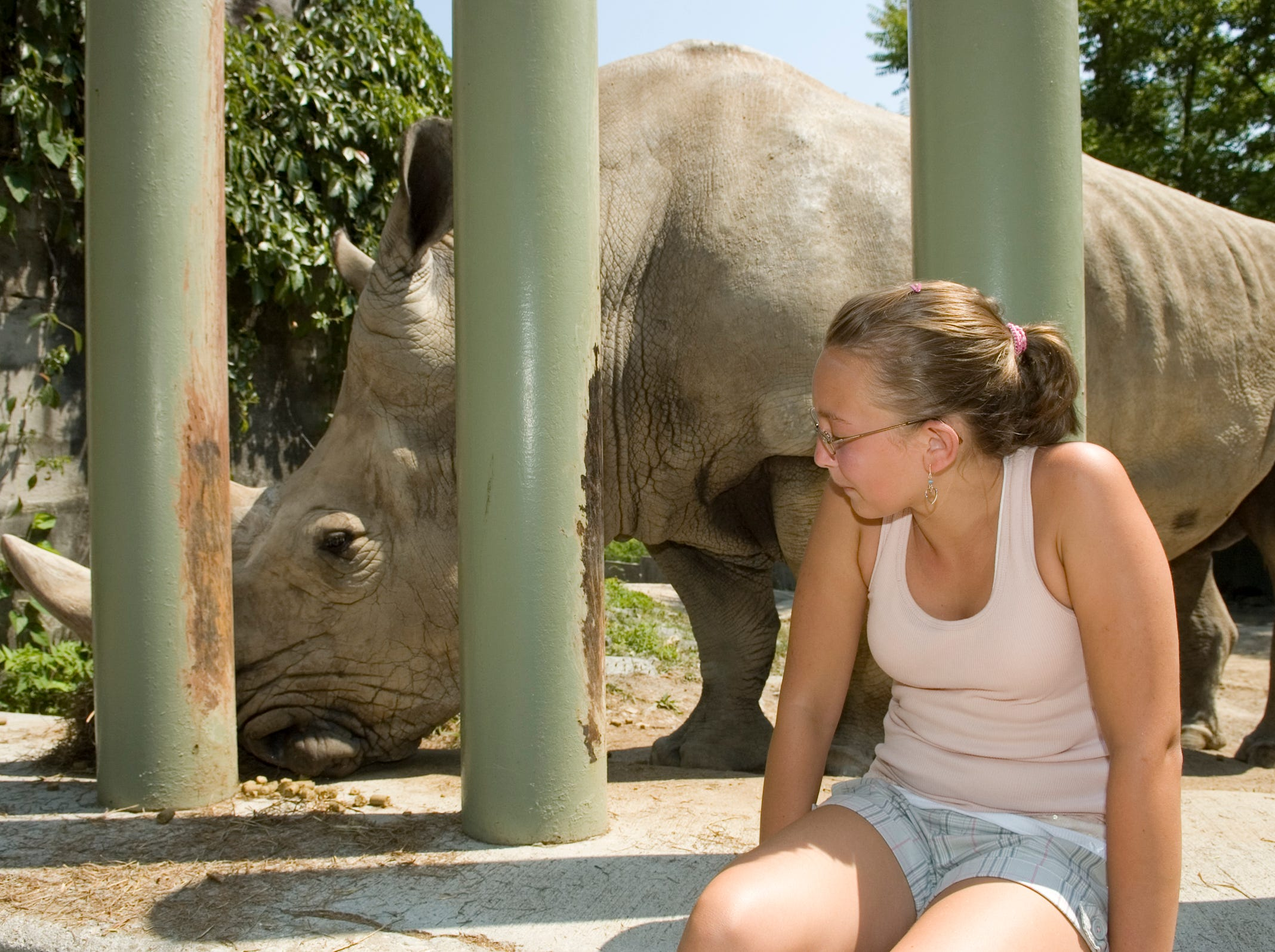 "Lauren Anders, 12, said that she never thought that she would be able to touch a rhinoceros, but the Knoxville Zoo has stared a new program to make it possible. ""I didn't think he was going to be that dry,"" said Anders who is from Morristown. Mondo is the name of the big fellow who was getting Anders attention. He is a Southern White Rhino from Africa.  The Zoo hopes to raise awareness about the animals and part of the $25 charge spend time with Mondo will donated to the International Rhino Foundation."