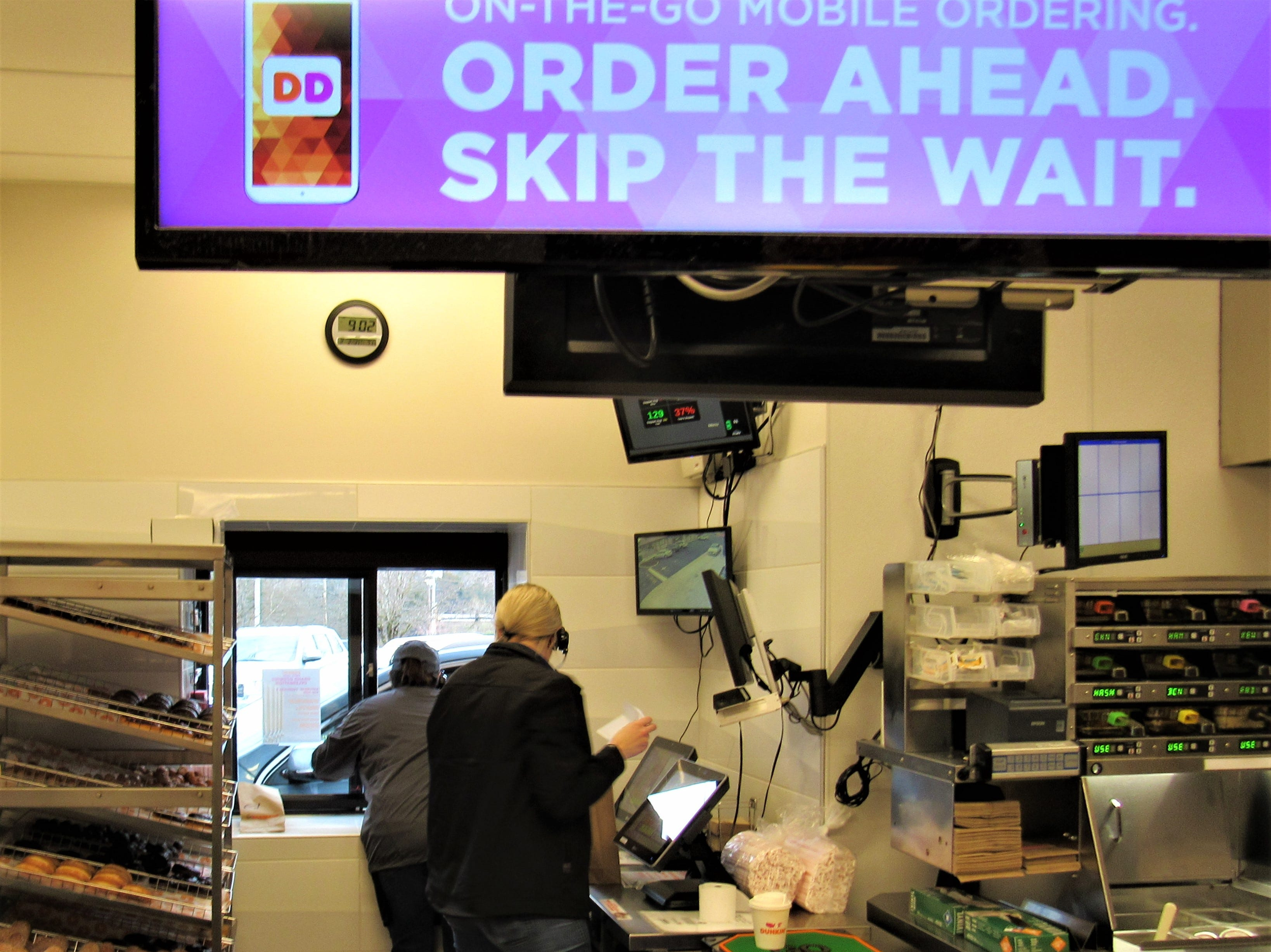Now with a drive-thru, customers can download an app to order and pre-pay online, cutting time for pick-up.  There is also a walk-up window for customers to grab-and-go.