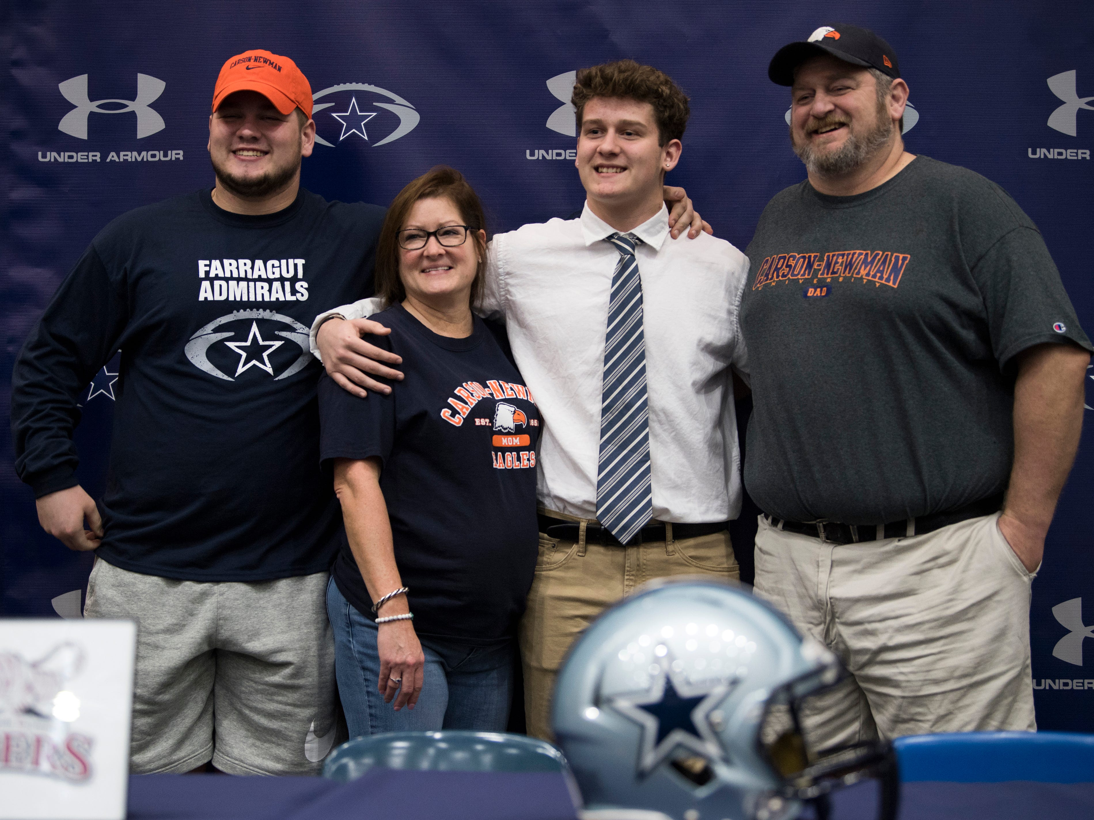 Farragut football player Jake Parsons during a National Signing Day event at Farragut High's auditorium on Wednesday, February 6, 2019.