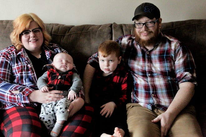 The Glines family live in the small town of Ladoga in Montgomery County. They're an hour away from a hospital that could deliver their second son so they participated in Project Swaddle to receive at home care during the pregnancy.