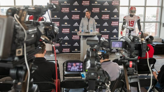 Press Conference where Head Coach Billy Napier speaks about UL's new signing class on National Signing Day. . Wednesday, Feb. 6, 2019.