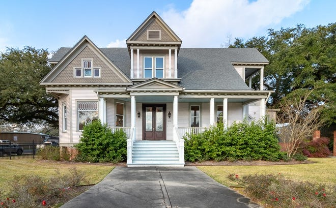 This 4 bedroom, 4 1/2 bath home is located at203 E. Main Street in Broussard. It is listed at $1,500,000.