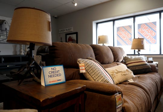Furniture sits in the showroom at Coconis Mattress 1st Wednesday, Feb. 6, 2019, at the store on North Memorial Drive in Lancaster.