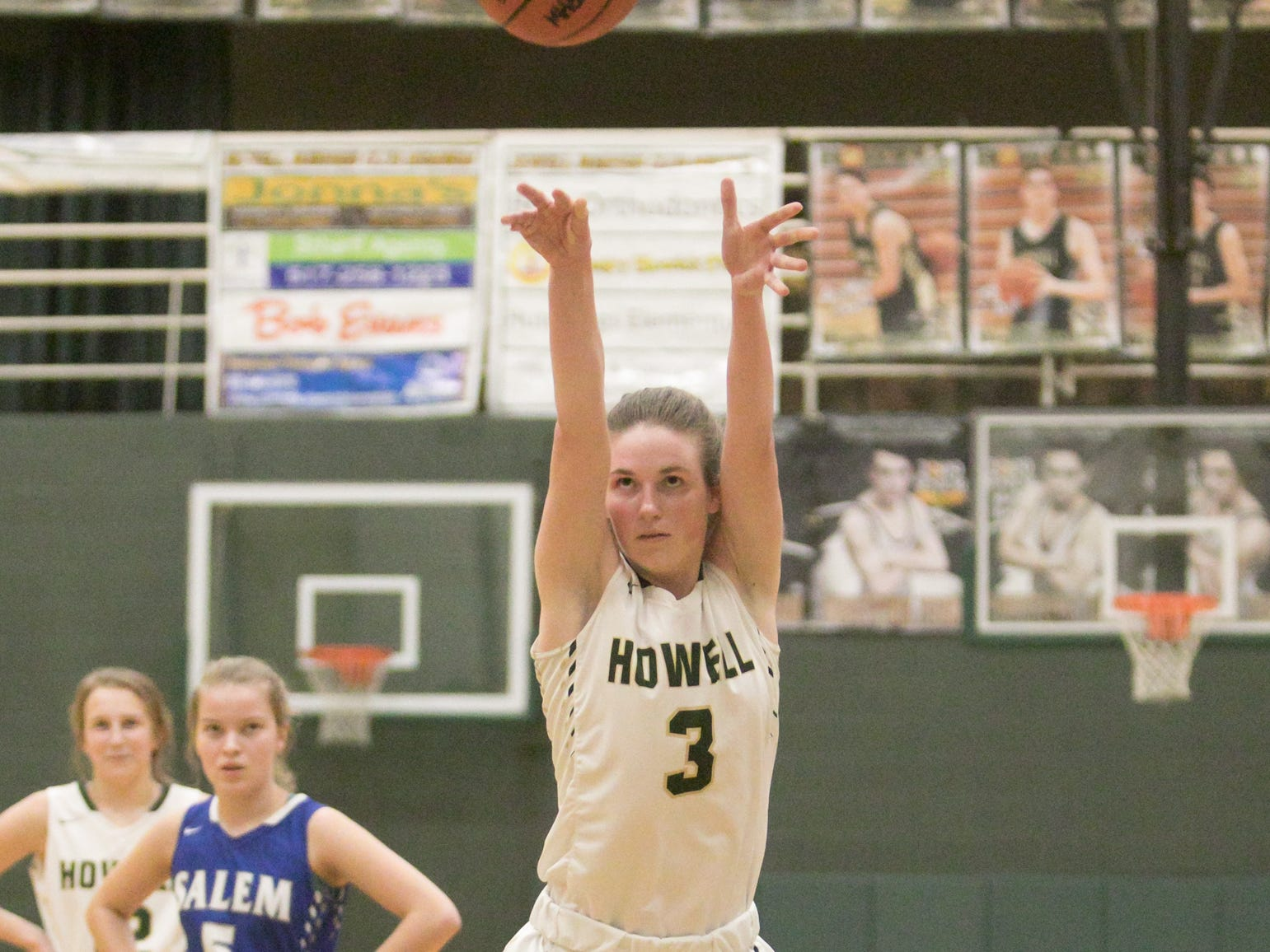 Haley Smathers of Howell shoots a free throw in a 48-17 victory over Salem on Tuesday, Feb. 5, 2019.