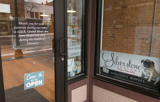 Silverstone Jewelers, shown Wednesday, Feb. 6, 2019, is moving from its current location in the Heart of Howell building to the former Up North Décor location, also on Grand River Ave.