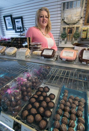 Teresa Chalifour, owner of The Chocolate Boutique in downtown Howell shown Wednesday, Feb. 6, 2019, will move her store to the current location of Silverstone Jewelers.