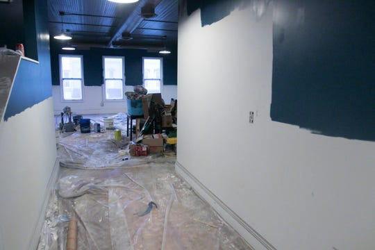 The second floor of what will be 1883 Bistro & More in Fowlerville, shown Wednesday, Feb. 6, 2019, will serve as a private banquet area as well as a training and pop-up space for culinary students and chefs.