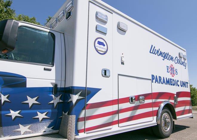 Livingston County EMS ambulance, shown Wednesday, Aug. 22, 2018.